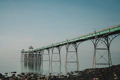all is calm... (Jess Feldon) Tags: wideangle le bigstopper clevedon clevedonpier somerset jessfeldon lookslikefilm pier water longexposure rocks coast estuary severnestuary beach winter