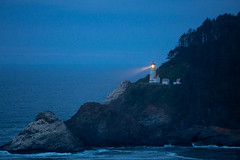Heceta Head Lighthouse At Twilight (amarilloladi) Tags: hecetalighthouse oregon travel beach lighthouse ocean shore vacation beachscapes cliffs twilight pacificnorthwest pacificocean pacific oregonlighthouses seascapes oregoncoast lighthouses