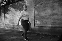 Smile (Bury Gardener) Tags: bw blackandwhite britain monochrome mono cambridgeshire cambridge england uk streetphotography street streetcandids snaps strangers candid candids people peoplewatching folks