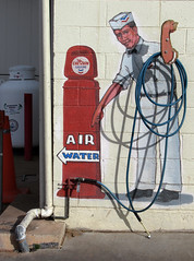 Air and Water (arbyreed) Tags: arbyreed sign paintedsign mural water air service servicestation gasstation chevrongasstation kanab utah quirky