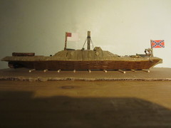 Ironclad in front of wall (Matt's Model Boats) Tags: maritime vessel dirigible