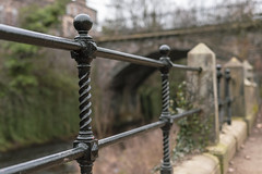 Fencing (separatesunsets) Tags: architecture deanvillage edinburgh old scotland stockbrigde waterofleith