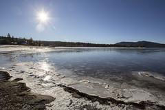 Big Bear Lake #2 (Alan Headland) Tags: water bigbear bigbearlake lake relfection sun sunlight beach sky california usa