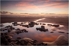 Ogmore-by-Sea (MatthewsCamera) Tags: canon eos5d lseries longexposure landscape sunset beach british sand reflections polariser cokin filters graduated clouds red colours autumn wales visitwales bridgend heritagecoast