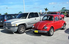 Ram and Beetle 9808 (Tangled Bank) Tags: palm beach county florida car auot volkswagen dodge auto truck pickup