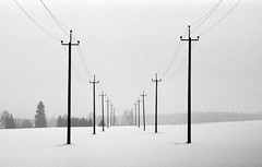 parallel strands (john grzinich) Tags: 11 2018 asa400 february ilfordpan100 ricohkr10super xtol winter ishootfilm blackwhite infrastructure analogfilm 35mmfilm