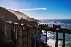 ☆ Bixby Creek Bridge (yuki_alm_misa) Tags: カリフォルニア ビクスビークリーク橋 bixbybridge bixbycreekbridge california stateroute1 bixbycanyonbridge bigsur openspandrelarchbridge californiastateroute1 sr1 catlerockviewpoint