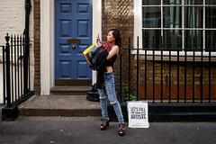 Soho, London (jaumescar) Tags: minimal street london england unitedkingdom soho smartphone woman photographer phoneography shopping city urban fashion jeans stylish blue door