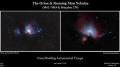 OrionAndRunningManNebulae_Composite_20181204_HomCavObservatory_ReSizedDown2HD (homcavobservatory) Tags: homcav observatory orion running man nebula m42 m43 ngc 1972 1975 1977 sharpless 279 emission reflection nebulae ed80t cf 80mm f6 carbonfiber apochromatic refractor 8inch f7 criterion newtonian reflector losmandy g11 mlount asi290mc autoguider planetary camera canon 700d t5i dslr gemini 2 control system phd2 astronomy astrophotography