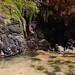 Natural source at Secret beach Kauai Hawaii