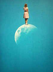 The Distance (Djuno Tomsni) Tags: collage handmade paper cutpaste surreal surrealism moon sky space retro vintage visual art design albumart djunotomsni
