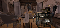 My house will be filled with golden glowing lights (Teddi Beres) Tags: second life sl virtual bedroom apple fall blonde girl woman interior design candles books decor room home bazar laq