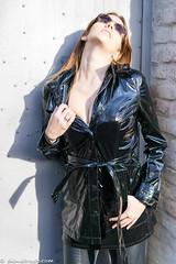 Sexy brunette girl in shiny black (sexyrainwear_dot_online) Tags: vinyl pvc latex leather lack leder boots overkneeboots overknees lackundleder lackleder lackmantel vinylcoat vinyljacket vinylskirt pvcskirt lackjacke lackstiefel