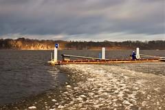 Vistula in the winter (bożenabożena) Tags: landscape winter river icefloe sunset water canonphotography poland krajobraz zima rzeka vistula wisła kralodowa