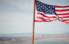 Fortification Hill (ShanePritchard) Tags: fortification hill lake mead desert flag