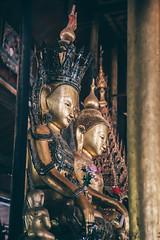 Inle Lake, Myanmar, January 2019 (Etienne Gab) Tags: inle inlay lake lac monastery monastère monk buddhist bouddhisme bouddha water sky moine bouddhiste phaung daw oo u pagoda pagodas pagode pagodes statue buddha buddhas myanmar birmanie burma bamar shan state shanstate asia asie canon canonef2470mmf28lusm 5d markiii mark iii wood gold golden bois flotting pilotis tourism travel voyage dry season