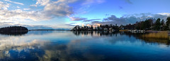 Westend Panorama (CraDorPhoto) Tags: nokialumia1020 landscape waterscape sea calm tranquil reflection water clouds sky nature outdoors espoo finland