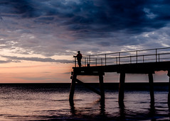 ..fish shop at the jetty.. (dawn.tranter) Tags: dawntranter silhouette bluehour ocean beach water