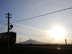 The sunset view from Tsugaru Rail Line (しまむー) Tags: panasonic lumix dmcgx gx1 g 20mm 40mm f17 asph sunset