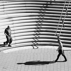 living for today (gicol) Tags: hamburg germany amburgo scale stairs shadow ombra sombra gradino steps walking andando lines curve scendendo bajando stepping