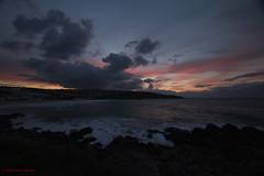 3KA11304a_C_2018-11-20 (Kernowfile) Tags: cornwall cornish sunset sky clouds beach water waves breakingwaves rocks cliffs twilight porthmeorbeach stives pentax pentaxforums