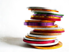 Precarious balance (Monceau) Tags: mardigras doubloons neworleans colorful metal precarious balance macro macromondays 336365 365picturesin2018 365the2018edition 3652018 day336365 02dec18 thisisus atsh signofthetimes