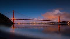 Kirby Cove Sunset (PrevailingConditions) Tags: goldengatebridge goldengate ca california sanfrancisco sunset lights ocean water bayarea bay baybridge