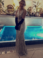 Dive Into 2019 (Turbo666) Tags: pool resort retro five star new year 2019 smile beautiful cavalier art deco expression gown holiday voyeur gloves virginia beach woman diva emotion candid i phone