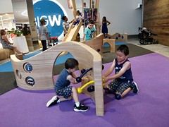 Liam and Isaac having a tug-of-war Pacific Fair, Broadbeach (avlxyz) Tags: pacific fair shopping centre broadbeach qld queensland australia