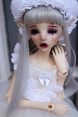 Happy new year! ♥ (Puppet Tales Dolls) Tags: ooak ooakdoll repaint dollrepaint custom customization bjd balljointeddoll dollchateau dollzone dollzonestar christmas happyholiday bjdcustom faceup makeup art draw cute kawaii