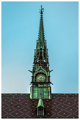 All Saints' Church Clocktower (nickyt739) Tags: church all saints chapel religious religion wittenberg germany deutschland europe colour colourful architecture explore adventure gothic green building outside looking up nikon flickrsbest fx dslr d750