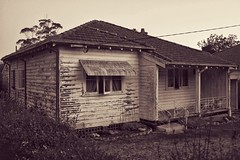 beautiful imperfection (gro57074@bigpond.net.au) Tags: beautifulimperfection x100f fuji fujifilm suburbia wellworn cottage oldhouse suburbs sydney asquith guyclift sepia