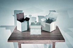 Boxes on table 1 Aug 2018 copy (Jeremy Webb Photography) Tags: jeremywebbphotography jeremywebb box boxes shadows tabletop table open closed lid light paint lightpainted torchlit slowexposure stilllife green pastel