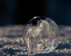 Nearly Fully Frosted (gerilynns) Tags: bubble frozen winter cold snow ice crystals maine frozensoapbubble