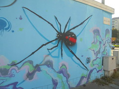 873 (en-ri) Tags: hans scaone paido spero sv 18 2018 torino wall muro graffiti writing ragno spider rosso nero azzurro