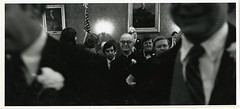Cambridge City Council Inaugural Procession with Bishop Riley, January 1971 (Cambridge Room at the Cambridge Public Library) Tags: cambridgemass cambridge massachusetts bw blackandwhite olivepierce pierceolive cambridgecitycouncil