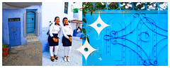 Two In Chaouen (Greenstone Girl) Tags: two blue chefchaouen doors people women models decorative motifs arches fff five photos fifth day