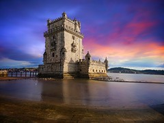 Belem Tower Pano in Lisbon (l.cutolo) Tags: flickr seascape water oldcity cloudysky cityscape ocean pano fall slowshutterspeed sony6000 city landmark oldbuilding dhrlike portugal lisbon bluehours sunset worldtrekkerlucacutolo trip cloudy tower amazingsky citylight ncg tlp reflections belem onone sony stackphotos reflection epz1650mmf3556oss
