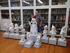 "Tracey and Scott with the Original Snow White Grotto Statues. • <a style=""font-size:0.8em;"" href=""http://www.flickr.com/photos/28558260@N04/31962061198/"" target=""_blank"">View on Flickr</a>"