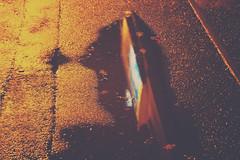 Wet Night in Cotteridge (Callums art) Tags: puddles puddle pavement water wet westmidlands midlands birmingham brum b30 unitedkingdom urban reflection reflections reflect england uk cotteridge pershorerd pershoreroad