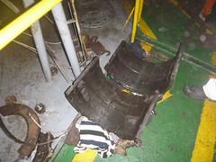 Resize of P1360522 (OpalStream) Tags: rudder marine vessel repair works overhauling workshop measurements filler gauge dirt
