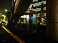 Tokyo (Meg Kamiya) Tags: tokyo japan night light colour city olympus omd em10 phone footbridge