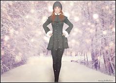 Winter Portrait with LAQ Noelle (Eminy Roddenham) Tags: secondlife sl portrait laq noelle fashion blog itscoldoutside coldoutside butbabyitscoldoutside winter snow coat