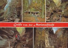 Postkarte / Deutschland (micky the pixel) Tags: postkarte postcard ephemera deutschland germany bodman marienschlucht burgruinekargegg bodensee badenwürttemberg type:face=derby type:face=volta