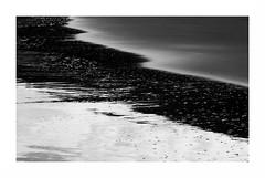 """""""Mondes Qui Fusionnent,.. Grains Qui Bullent """" (The Blue Water Lily's Company) Tags: fdrouet nb bw monochrome monochrom poselongue longexposure eau water sable sand plage beach nikon d610"""