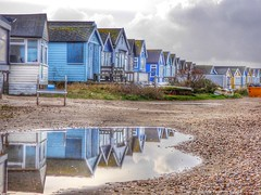 Mudeford Spit Beach Huts (Belinda Fewings (4.5 million views. Thank You)) Tags: blue blu colour colourful seaside beach christchurch beautiful southcoastofengland reflections mudefordspitbeachhuts panasoniclumixdmc belindafewings bournemouth december bokeh city street artistic pbwa creativeartphotograhy creative arty beautify beauty lovely outdoors outside out best depthoffield garden color colours colors interesting interest water river