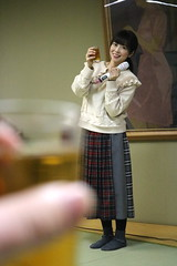 A Toast to Christmas! (emotiroi auranaut) Tags: woman lady singer pretty beauty toast glass drink xmas christmas beautiful