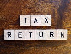 Tax return stock photo