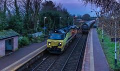 The Dalston shuffle (Blaydon52C) Tags: dalston dawn 70813 colas railfreight 6s36 oil class70 railway rail railways trains train transport locomotive locomotives loco locomotion cumbriancoast