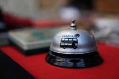 London is open......please ring for service! (tanyalinskey) Tags: london service bell macro